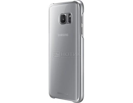 Чехол-накладка Samsung Clear Cover для Samsung Galaxy S7, Поликарбонат, Silver, Серебристый, EF-QG930CSEGRU
