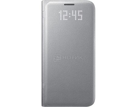 Чехол-книжка Samsung LED View Cover для Samsung Galaxy S7, Поликарбонат, Silver, Серебристый, EF-NG930PSEGRU