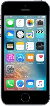 "Смартфон Apple iPhone SE 16Gb Space Gray (iOS 9/A9 1800MHz/4.0"" (1136x640)/2048Mb/16Gb/4G LTE 3"