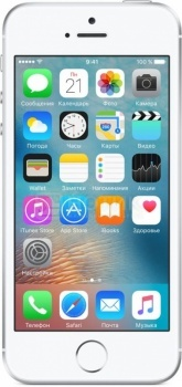 Смартфон Apple iPhone SE 16Gb Silver (iOS 9/A9 1800MHz/4.0