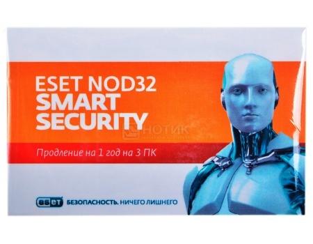 Электронная лицензия ESET NOD32 Smart Security - продление лицензии на 1 год на 3ПК от Нотик