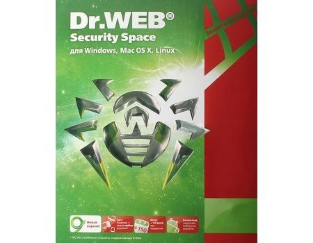 Электронная лицензия Dr.Web Security Space Комплексная защита, продление на 12 мес. на 2 ПК