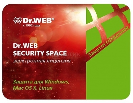 Электронная лицензия Dr.Web Security Space Комлексная защита, продление на 36 мес. на 3 ПК