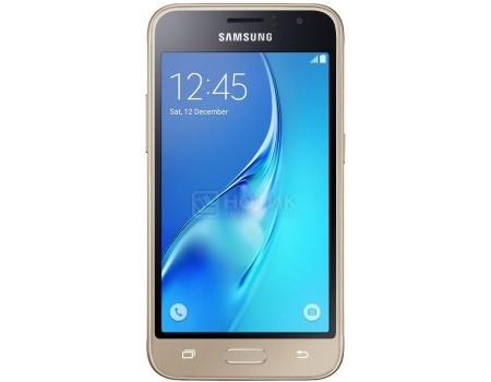 "Фотография товара смартфон Samsung Galaxy J1 SM-J120F Gold (Android 5.1/Exynos 3475 1300MHz/4.5"" 480x800/1024Mb/8Gb/4G LTE ) [SM-J120FZDDSER] (44964)"