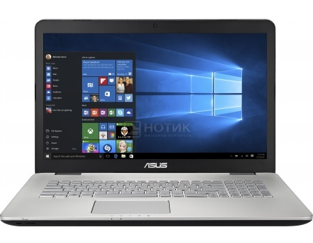 Ноутбук Asus N751JX (17.3 IPS (LED)/ Core i7 4750HQ 2000MHz/ 8192Mb/ HDD 1000Gb/ NVIDIA GeForce GTX 950M 4096Mb) MS Windows 10 Home (64-bit) [90NB0842-M02600]