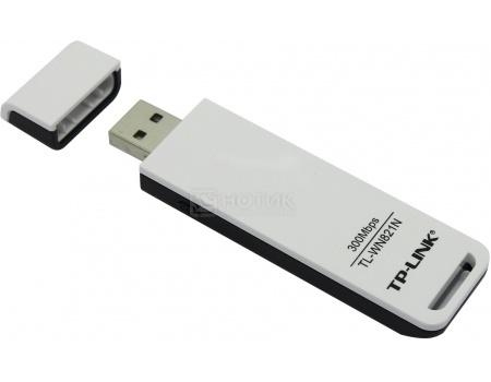 Сетевой адаптер TP-Link TL-WN821N, USB, 802.11b/g/n до 300 Мбит/с, Белый от Нотик