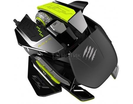 Мышь проводная Mad Catz R.A.T.PRO X Gaming Mouse - Pixart PMW 3310,  5000dpi, Черный MCB4371800X6/02/1