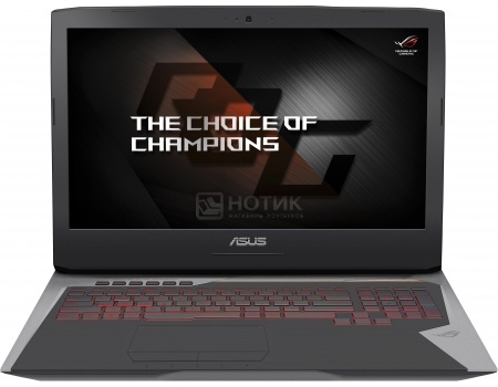 Ноутбук Asus G752VT (17.3 IPS (LED)/ Core i7 6700HQ 2600MHz/ 8192Mb/ HDD 2000Gb/ NVIDIA GeForce GTX 970M 3072Mb) Free DOS [90NB09X1-M01720]
