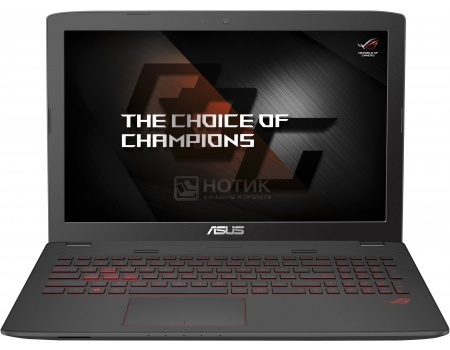 Ноутбук ASUS ROG GL752VW-T4236T (17.3 LED/ Core i5 6300HQ 2300MHz/ 8192Mb/ HDD+SSD 2000Gb/ NVIDIA GeForce® GTX 960M 2048Mb) MS Windows 10 Home (64-bit) [90NB0A42-M03120]