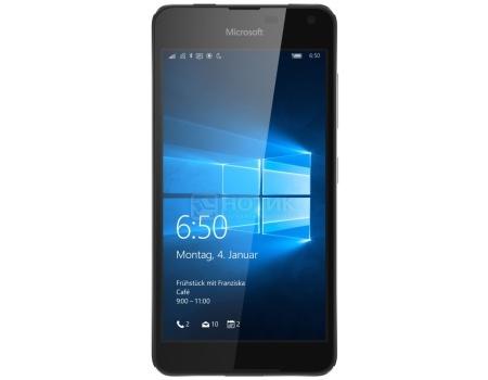 Смартфон Microsoft Lumia 650 Black (Windows Mobile 10/MSM8909 1300MHz/5.0 (1280x720)/1024Mb/16Gb/4G LTE 3G (EDGE, HSDPA, HSUPA)) [A00027253]Microsoft<br>5.0 Qualcomm 1300 МГц 1024 Мб Flash drive 16 Гб Windows Mobile 10 бат. - до 16.0 ч Черный<br>