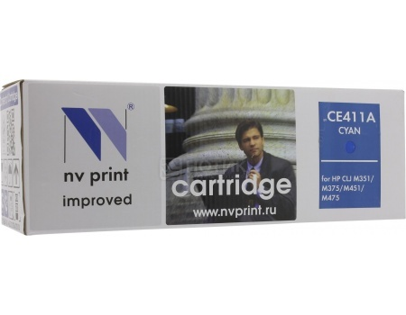 Картридж NV Print CE411A Cyan для HP CLJ Color M351, M451, MFP M37, MFP M475, Циан NV-CE411AC