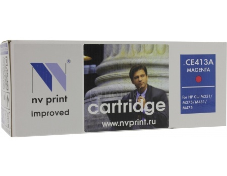 Картридж NV Print CE413A Magenta для HP CLJ Color M351, M451, MFP M375/MFP M475, Фиолетовый NV-CE413AM