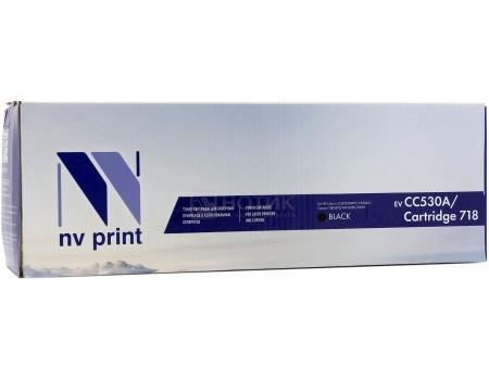 Картридж NV Print CC530A/Canon 718 Black для HP Color LJ CM2320MFP, CP2025/ Canon i-SENSYS MF-8330, 8350, Черный NV-CC530A/Canon718Bk