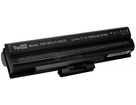 Аккумулятор TopON TOP-BPL21-NOCD66 для Sony Vaio PN: VGP-BPL2C VGP-BPS2A VGP-BPS2B VGP-BPS2C 11.1V 6600mAh оригинальный аккумулятор sony vpcz21 z212 z213 z214 z215 z216 sony vgp bps27