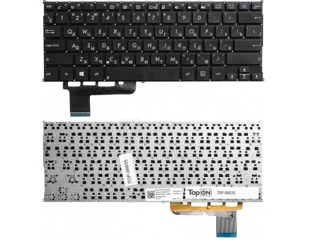 Клавиатура для ноутбука Asus X201 X201E S200 S200E X202E Q200 Q200E X200 Series TopON TOP-99935, Черный