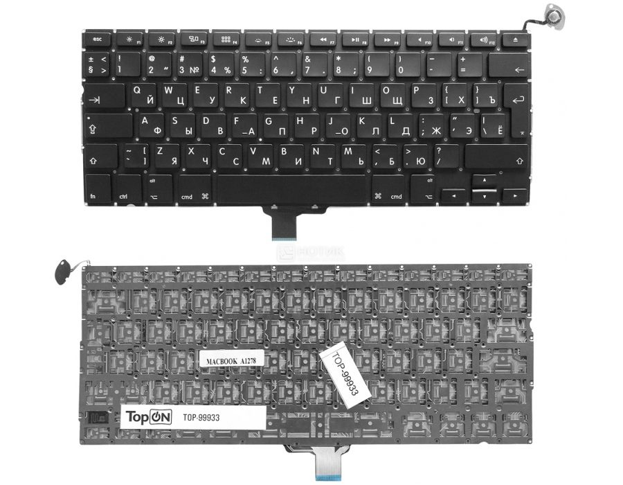 Клавиатура TopON TOP-100300 для HP Envy 4-1000 / 4-1100 / 4-1200 / 6-1000 Series Black
