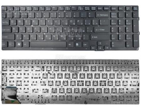 Клавиатура для ноутбука Sony Vaio VPC-SE Series, без рамки, TopON TOP-95591 Черный vaio vpc eh2m1r w купить