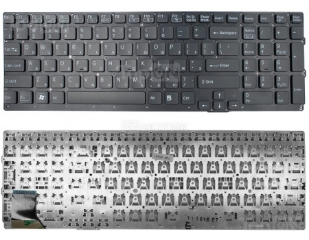 Клавиатура TopON для Sony Vaio VPC-SE Series, без рамки, TOP-95591 Черный