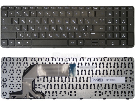 Клавиатура для ноутбука HP Pavilion 17 Series, С рамкой, TopON TOP-100025 Черный