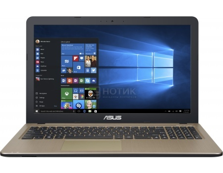 Ноутбук Asus X540SC (15.6 LED/ Pentium Quad Core N3700 1600MHz/ 4096Mb/ HDD 1000Gb/ NVIDIA GeForce GT 810M 1024Mb) MS Windows 10 Home (64-bit) [90NB0B21-M00750]