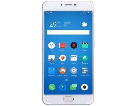 "Смартфон Meizu M3 Note 16Gb Silver White (Android 5.1/MT6755 1800MHz/5.5"" 1920x1080/2048Mb/16Gb"