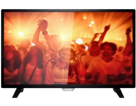Телевизор Philips 32PHT4001/60, LED, HD, PMR 100, Черный телевизор philips 49pus7100