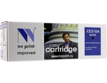 Картридж NV Print CE310A для HP CE311A/Canon729, LJ Color CP1025 Черный