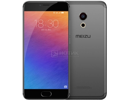 Смартфон Meizu Pro 6 64Gb Black (Android 6.0 (Marshmallow)/MT6797T 2500MHz/5.2