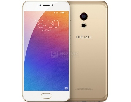 Смартфон Meizu Pro 6 32Gb Gold White (Android 6.0 (Marshmallow)/MT6797T 2500MHz/5.2
