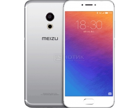 Смартфон Meizu Pro 6 32Gb Silver White (Android 6.0 (Marshmallow)/MT6797T 2500MHz/5.2