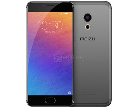 "Смартфон Meizu Pro 6 32Gb Gray Black (Android 6.0 (Marshmallow)/MT6797T 2500MHz/5.2"" 1920x1080/"
