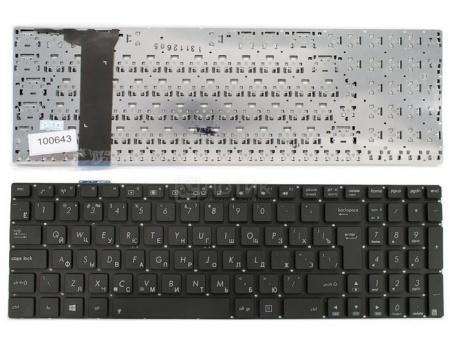 Клавиатура для ноутбука Asus N56 N56V N76 N76V Series, TopON TOP-100643 Черный, с гравировкой, без рамки. Г-образный