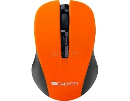 Мышь беспроводная Canyon CNE-CMSW1, 800/1000/1200dpi, Оранжевый WACNECMSW1O
