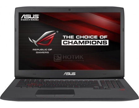 Ноутбук Asus G751JL (17.3 IPS (LED)/ Core i7 4850HQ 2300MHz/ 16384Mb/ HDD+SSD 1000Gb/ NVIDIA GeForce GTX 965M 2048Mb) MS Windows 10 Home (64-bit) [90NB0892-M01600]
