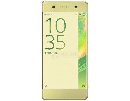 Смартфон Sony Xperia XA Dual Lime Gold (Android 6.0 (Marshmallow)/MT6755 2000MHz/5.0