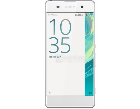 "Смартфон Sony Xperia XA Dual White (Android 6.0 (Marshmallow)/MT6755 2000MHz/5.0"" 1280x720/2048Mb/16Gb/4G LTE  ) [F3112White] от Нотик"