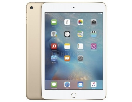"Фотография товара планшет Apple iPad Mini 4 128Gb Wi-Fi Gold (iOS/A8 1500MHz/7.9"" 2048x1536/2048Mb/128Gb/ ) [MK9Q2RU/A] (46173)"