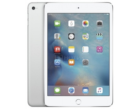 "Фотография товара планшет Apple iPad Mini 4 128Gb Wi-Fi Silver (iOS/A8 1500MHz/7.9"" 2048x1536/2048Mb/128Gb/ ) [MK9P2RU/A] (46174)"