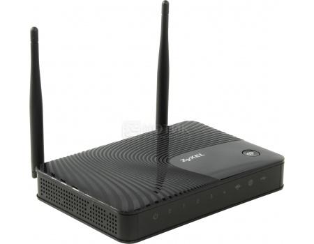 Маршрутизатор Zyxel Keenetic Viva 10/100/1000BASE-TX,  4xLAN, 802.11n до 300Мбит/с, 1xUSB 2.0, Черный