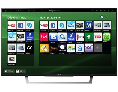 Телевизор SONY 43 KDL-43WD756 FHD, Smart TV, CMR 400, Черный