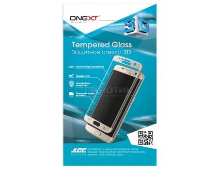 Защитное стекло ONEXT для Samsung Galaxy S7, 3D с рамкой, Серебристый 41058