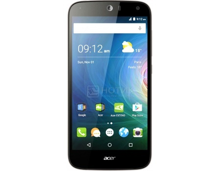 "Смартфон Acer Liquid Z530 16Gb Black (Android 5.1/MT6735 1300MHz/5.0"" (1280x720)/2048Mb/16Gb/4G LTE ) [HM.HQUEU.002] от Нотик"
