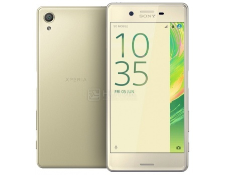 Защищенные смартфоны Sony Xperia X Perfomance Lime Gold (Android 6.0 (Marshmallow)/MSM8996 2150MHz/5.0