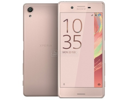 Защищенные смартфоны Sony Xperia X Perfomance Dual Rose Gold (Android 6.0 (Marshmallow)/MSM8996 2150MHz/5.0