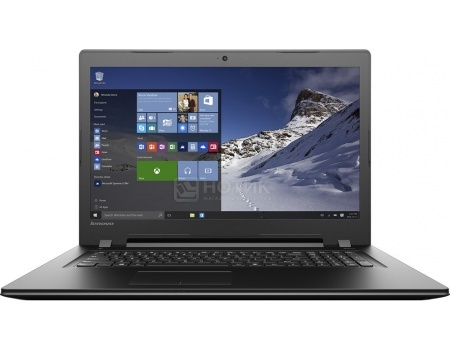Ноутбук Lenovo IdeaPad B7180 (17.3 LED/ Pentium Dual Core 4405U 2100MHz/ 4096Mb/ HDD 500Gb/ Intel HD Graphics 510 64Mb) Free DOS [80RJ00EYRK]