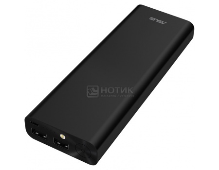 Фотография товара внешний аккумулятор Asus ZenPower Ultra 20100 мАч, microUSB 5.1V/2.4А, 2xUSB, 12.1V/2.4А, Черный 90AC00M0-BBT019 (46445)