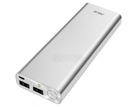 Внешний аккумулятор Asus ZenPower Ultra 20100 мАч, microUSB 5.1V/2.4А, 2xUSB, 12.1V/2.4А, Серебристый 90AC00M0-BBT020