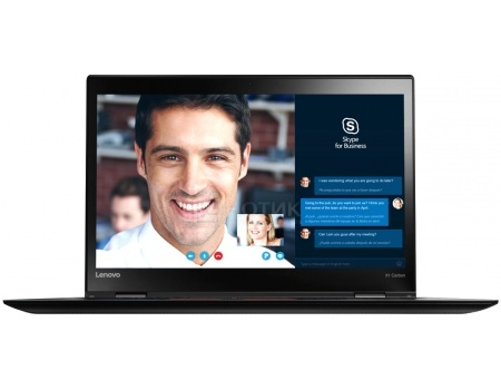Ультрабук Lenovo ThinkPad X1 Carbon 4 (14.0 IPS (LED)/ Core i5 6200U 2300MHz/ 4096Mb/ SSD 192Gb/ Intel HD Graphics 520 64Mb) MS Windows 10 Home (64-bit) [20FBS00N00]Lenovo<br>14.0 Intel Core i5 6200U 2300 МГц 4096 Мб DDR3-1600МГц SSD 192 Гб MS Windows 10 Home (64-bit), Черный<br>