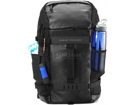 "Рюкзак 15.6"" HP Black Odyssey Backpack, L8J88AA, Полиэстер, Черный"