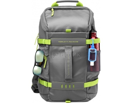 "Рюкзак 15.6"" HP Grey Odyssey Backpack, L8J89AA, Полиэстер, Серый"